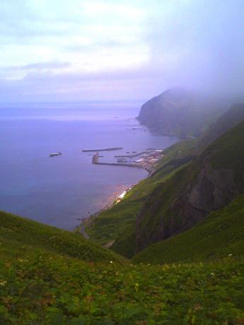 桃岩コースから元地海岸を見る