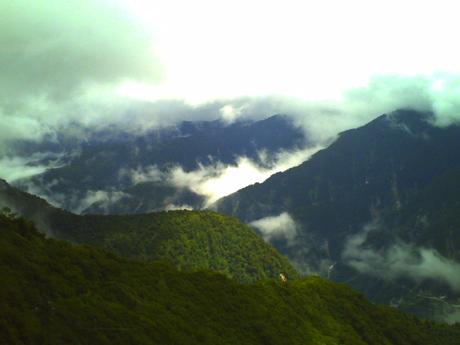 大観峰から見た山並み