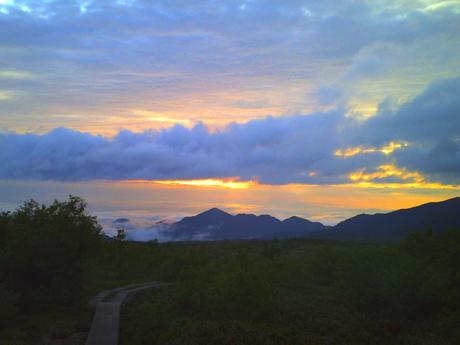 弥陀ヶ原の夕焼け1