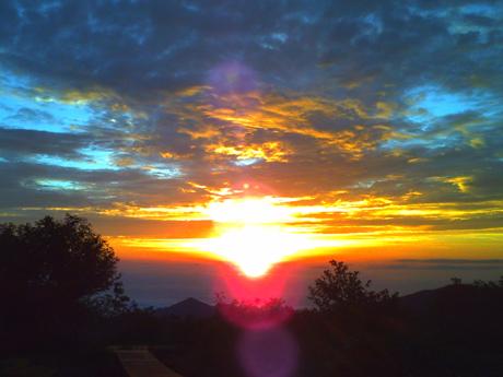弥陀ヶ原の夕焼け2