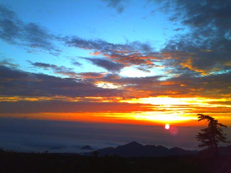 弥陀ヶ原の夕焼け3