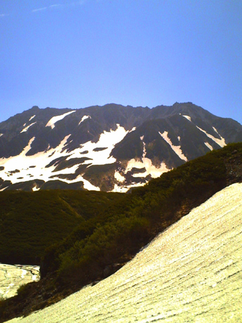室堂から見た立山連峰