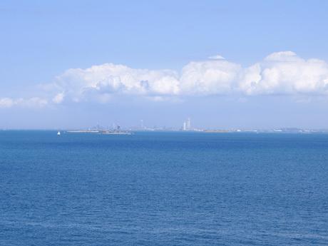 猿島から見た富津