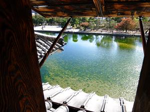 松本城から見たお堀