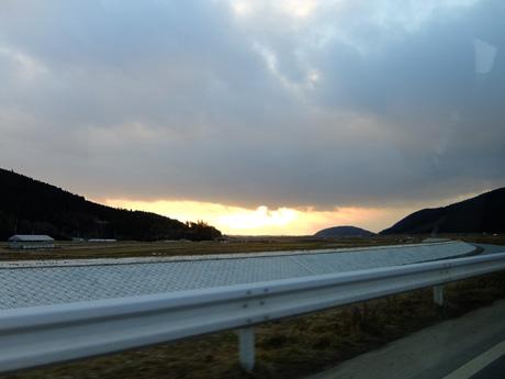 石巻の夕日